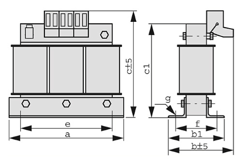 DT graphic - Three-phase matching transformer