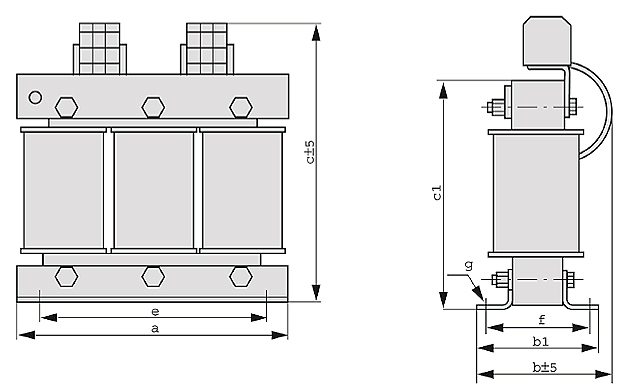 DTF graphic - Three-phase transformer