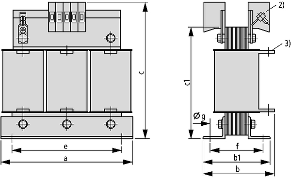 DTZ graphic - Three-phase control, isolating and safety transformer