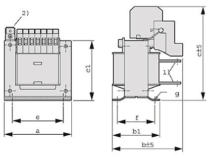 ET, ETF graphic - Single-phase matching transformer