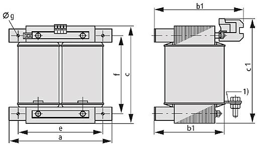 ET, ETF graphic 2 - Single-phase matching transformer