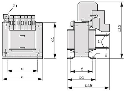 ETSP, ETFSP graphic - Single-phase autotransformer
