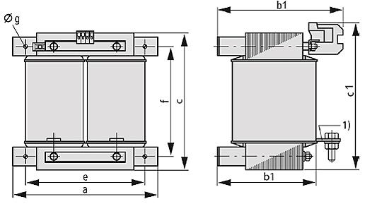 ETSP, ETFSP graphic 2 - Single-phase autotransformer