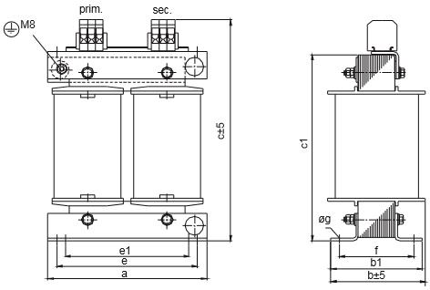 ETSP, ETFSP graphic 3 - Single-phase autotransformer
