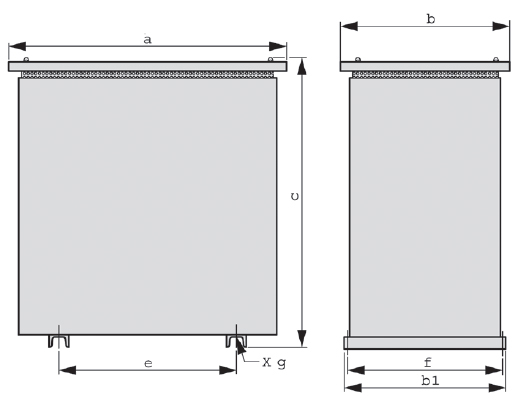 IP23 graphic 3 - Protective steel sheet enclosure