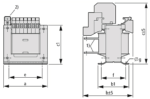 STI graphic 2 - Single-phase control, isolating and safety transformer