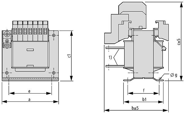 STN graphic - Single-phase control transformer