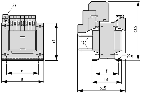UTI graphic - Single-phase multi-winding transformer